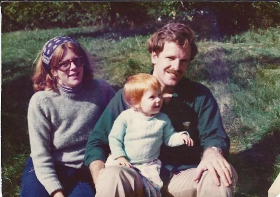 Mum Dad Lindsey 1975